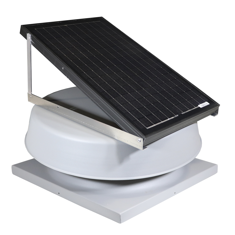 Natural Light SAF32CM- 32-Watt Curb-Mounted Solar Attic Fan (Flat Rooftops)