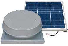SAF60CM Natural Light 60-Watt Curb Mount Solar Attic Fan