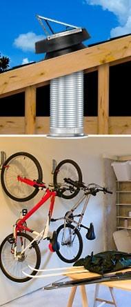 Natural Light Solar Attic Fan Garage Exhaust Kit