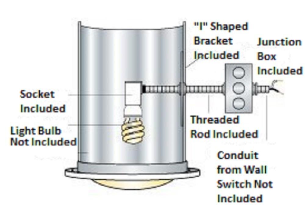 Natural Light Tubular Skylight Light Kit