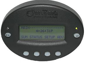 Outback MATE B- Surface Mount System Display & Control - Black