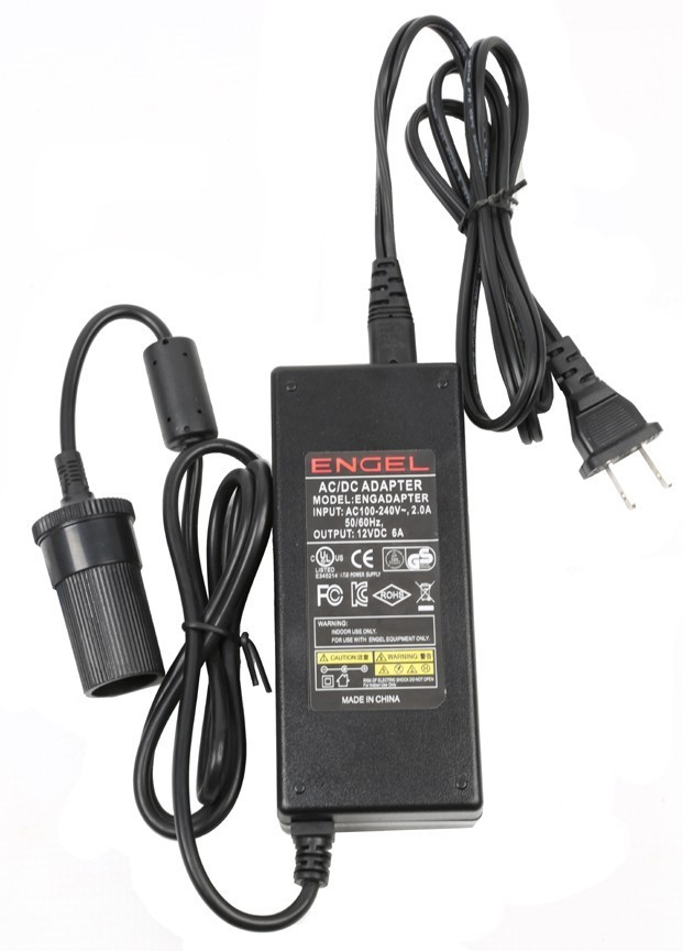 Engel AC/DC Adapter Cord 6-Amp for Engel models MD14F and MHD13F-DM - ENGADAPTOR