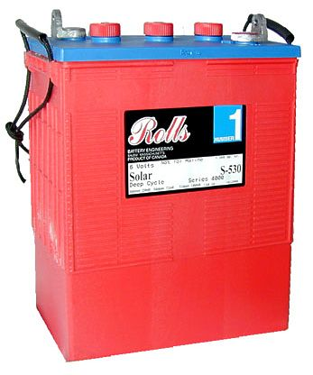 Surrette Rolls - S-530 6V Deep Cycle Flooded Solar Battery