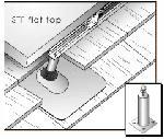 Unirac 310009 - Zinc Plated Steel One-Piece Flat Top Standoff