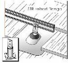 Unirac 310019 - Zinc Plated Steel Raised Flange Standoff
