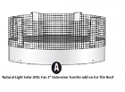 Natural Light Solar Attic Fan Turret Extension
